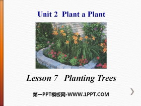 《Planting Trees》Plant a Plant PPT课件