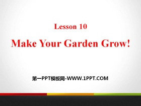 《Make Your Garden Grow!》Plant a Plant PPT�n件