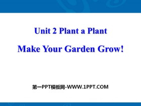《Make Your Garden Grow!》Plant a Plant PPT�n件下�d