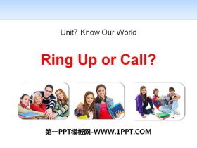 《Ringing Up or Call?》Know Our World PPT课件