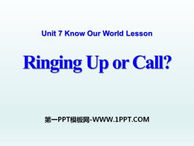 《Ringing Up or Call?》Know Our World PPT