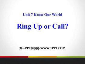 《Ring Up or Call?》Know Our World PPT免费课件
