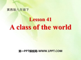 《A Class of the World》Know Our World PPT下�d