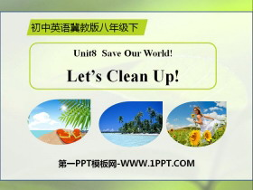 《Let's Clean Up!》Save Our World! PPT下载
