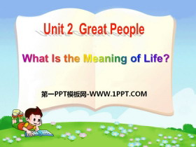 《What Is the Meaning of Life?》Great People PPT课件