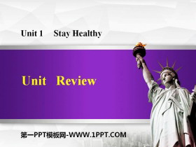 《Review》Stay healthy PPT