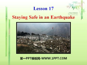 《Staying Safe in an Earthquake》Safety PPT