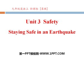 《Staying Safe in an Earthquake》Safety PPT�n件