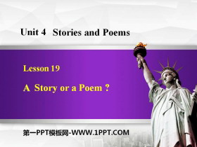 《A Story or a Poem?》Stories and Poems PPT教学课件