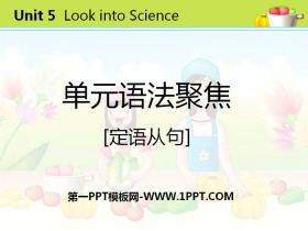 《单元语法聚焦》Look into Science! PPT
