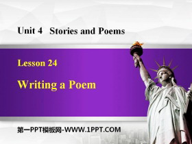 《Writing a Poem》Stories and Poems PPT�n件下�d