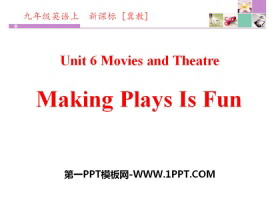 《Making Plays Is Fun》Movies and Theatre PPTtt娱乐官网平台