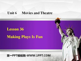 《Making Plays Is Fun》Movies and Theatre PPT�n件下�d