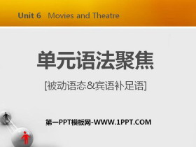 《单元语法聚焦》Movies and Theatre PPT