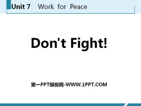 《Don't Fight!》Work for Peace PPT课件下载