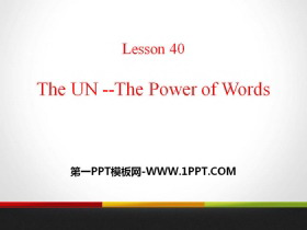 《The UN-The Power of Words》Work for Peace PPT课件