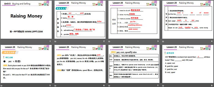 《Raising Money》Buying and Selling PPT教学课件