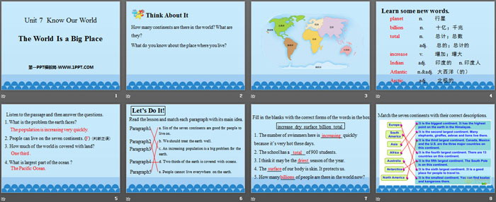 《The World Is a Big Place》Know Our World PPT