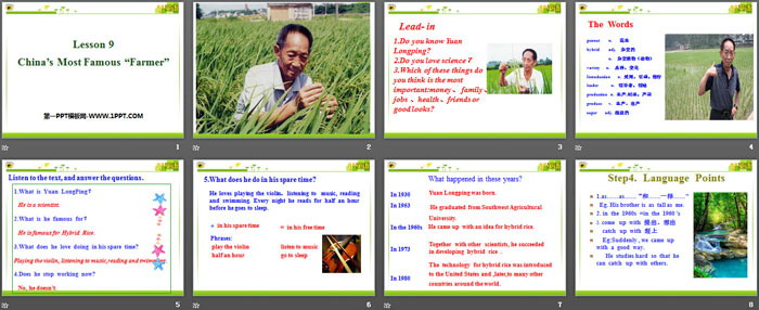 "《China\s Most Famous ""Farmer""》Great People PPTtt娱乐官网平台"