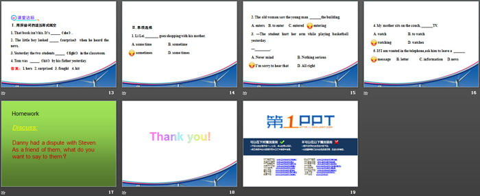 《Don\t Fight!》Work for Peace PPT