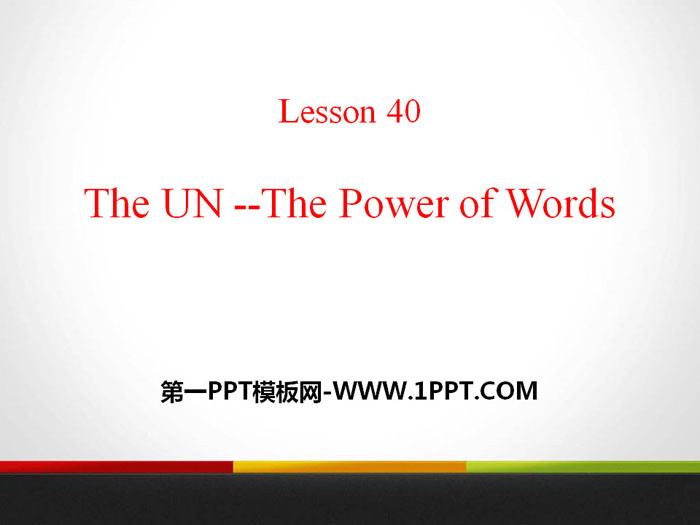 《The UN-The Power of Words》Work for Peace PPT�n件
