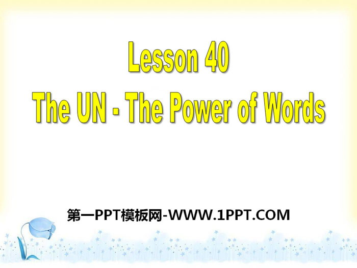 《The UN-The Power of Words》Work for Peace PPT课件下载