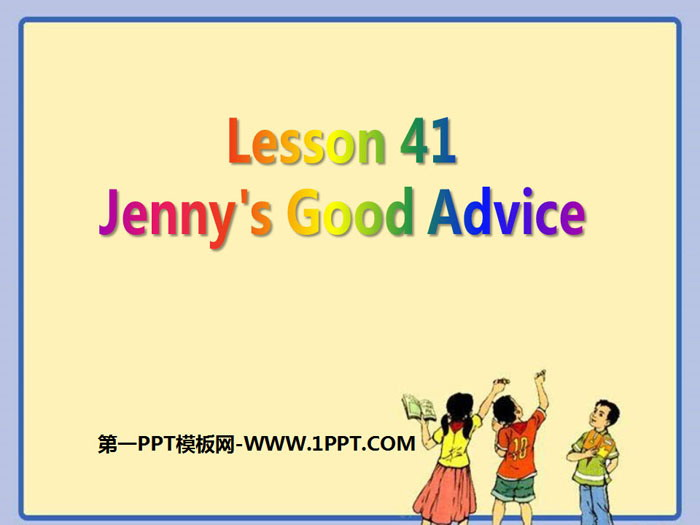 《Jenny\s Good Advice》Work for Peace PPT