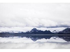五张大气雪山自然风景PPT背景图片