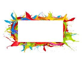 八张彩色油漆颜料PPT背景图片