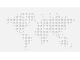 灰色世界地图点阵图PPT背景图片