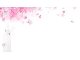 浪漫粉色水彩�淠净ò�PPT背景�D片