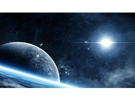 四��宇宙星空星球PPT背景�D片