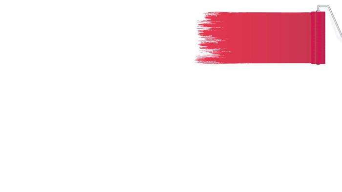 八��彩色油漆�料PPT背景�D片