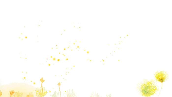 三��彩色水彩手�L花卉PPT背景�D片