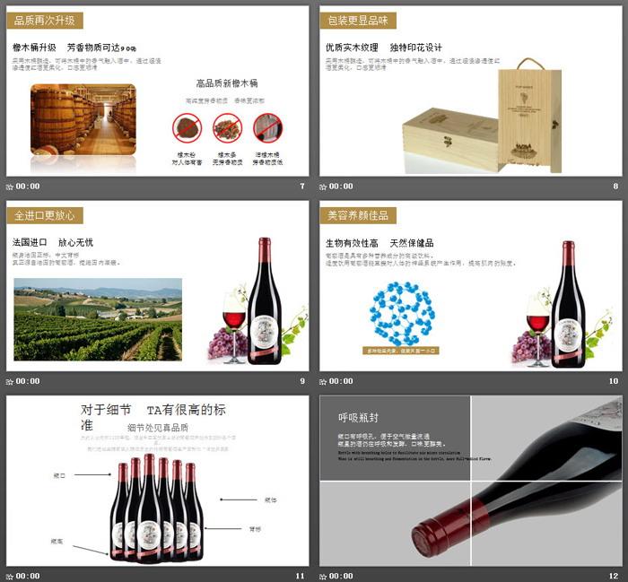 法国红酒宣传PPT模板
