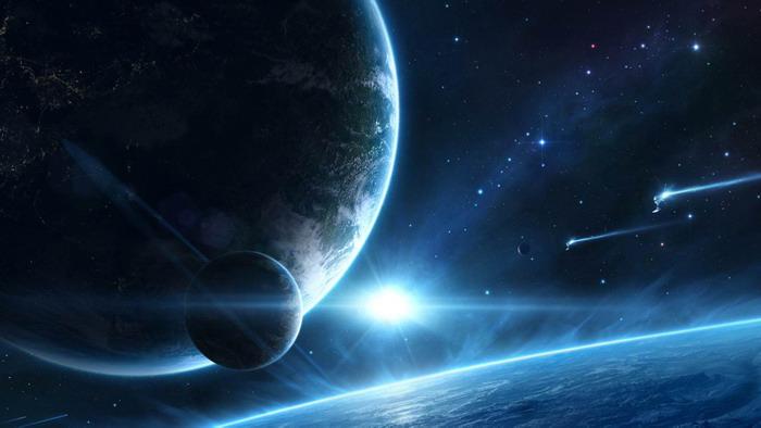 四张宇宙星空星球PPT背景图片