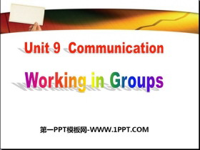 《Working in Groups》Communication PPT课件下载