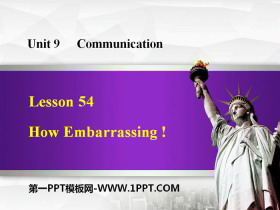 《How Embarrassing!》Communication PPT教学课件