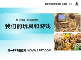 《我们的玩具和游戏》PPT