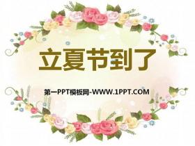 《立夏节到了》PPT课件
