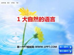 《大自然的语言》PPT课件下载