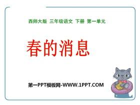 《春的消息》PPT教学课件
