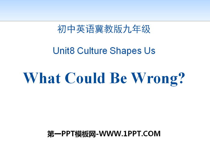 《What Could Be Wrong?》Communication PPT教学课件