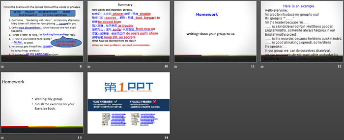 《Working in Groups》Communication PPT