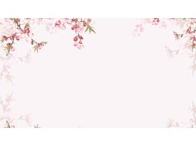 唯美桃花�矍榛�羝�背景�D片