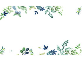 绿色水彩叶子PPT背景图片