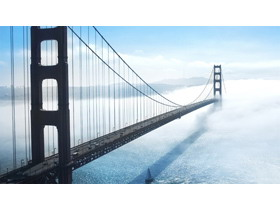 五张精美跨海大桥PPT背景图片