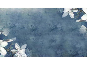 五��唯美水彩花卉�G�~PPT背景�D片