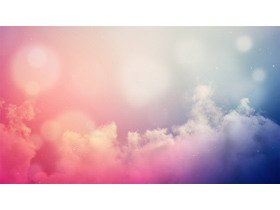 12��彩色云彩PPT背景�D片