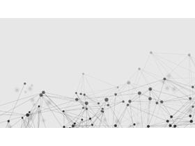 六张点线粒子科技PPT背景图片合集一